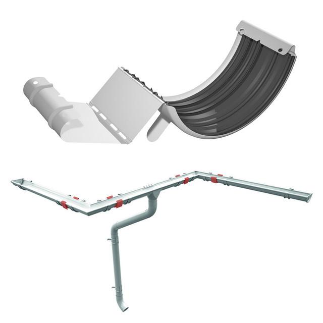 Замок - соединитель для желоба Ruukki 125 мм., шт. для металлической водосточной системы