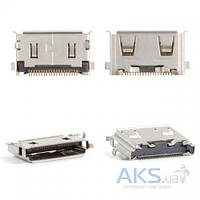 (Коннектор) Aksline Разъем зарядки Samsung С3050 / C450 / D880 / E210 / E950 / F110 / F210 / F250 / F330 / F480 / F490 / F700 / G600 / G800 / J150 /