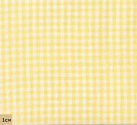 Ткань в мелкую клеточку, желтый, № PS-CG-yel, хлопок 100%