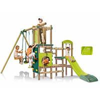 """506200. Игровой центр """"Гималаи"""", деревянная конструкция, горка, 2 качели, канат. Smoby"""