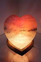 Соляная лампа «Сердце» 4-5 кг  цветная лампа