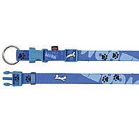 """Ошейник для собаки Trixie (Трикси) """"Modern Art Woof"""" нейлон, голубой, 22-35 см/15 мм"""