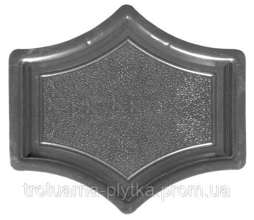 Форма для тротуарной плитки Рондо крест малый - ООО Вереск — 2007 в Днепре