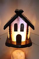 Соляная лампа «Домик» 5-6 кг  цветная лампа
