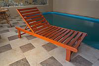 Лежак дерев'яний, фото 1