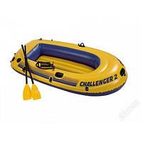 Лодка Intex CHALLENGER 2 SET 68367 2 чел + вёсла + насос 236-114-41 см