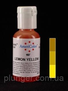 Краситель пищевой гелевый Americolor Lemon yellow / Желтый лимон