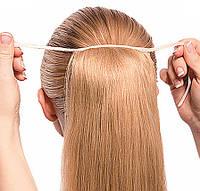 Хвост из Натуральных Волос 50 см Медовый Блонд ПАРИКИ НАРАЩИВАНИЕ ВОЛОС, фото 1