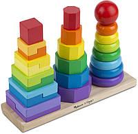 Детская пирамидка Melissa & Doug Геометрическая (MD567)