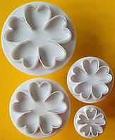 Плунжер Цветок 5 лепестков  4шт (кнопка), фото 1