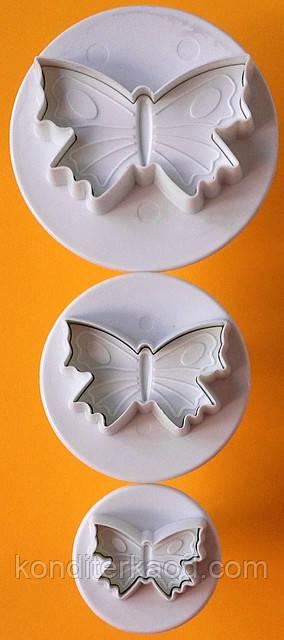Плунжер  Бабочки большая 3шт (кнопка)