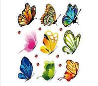 Наклейка виниловая Бабочки.Божьи коровки 3D декор