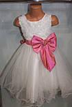 Бальное платье на девочку с розовым бантом., фото 4