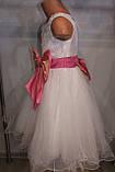 Бальное платье на девочку с розовым бантом., фото 5