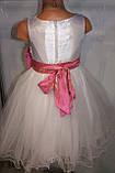 Бальное платье на девочку с розовым бантом., фото 6
