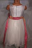 Бальное платье на девочку с розовым бантом., фото 7