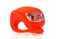 Велосипедный маячок, мигалка силиконовая, красная (светит красным)