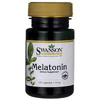 Swanson® Мелатонин в Таблетках для Сна, 3 мг 120 капсул