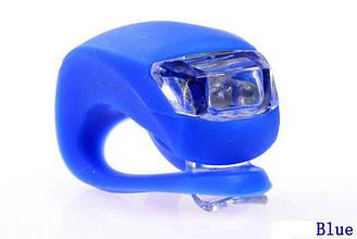 Велосипедный маячок, мигалка силиконовая, синий (светит синим)
