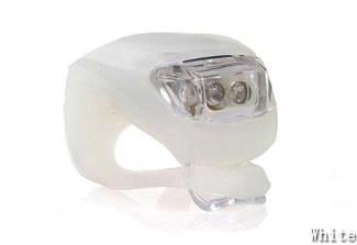 Велосипедный маячок, мигалка силиконовая, белый (светит белым)