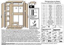 Шкаф Скарлет 3Д 2120х1360х580мм дуб сонома + венге магия Сокме  , фото 3