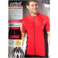 Велофутболка Crivit sport красная короткий рукав, полная змейка, модель 43808