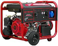 Генератор 6.0 кВА, Cos 1, Honda gx390, 9,6 кВт/13 л.с., 389 см3, 25 л, 85 кг с колесами AGT 7201 HSB TTI.