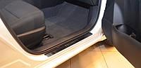 Накладки на пороги Premium Renault Sandero 2008-
