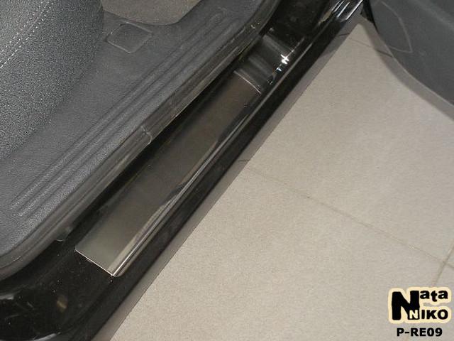 Накладки на пороги Premium Renault Laguna III 2007-