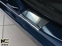 Накладки на пороги Premium Renault Megane III Grandtour 2009-