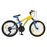 Детский спортивный велосипед Profi G20A315-L1-UKR-1 желто-голубой 20 дюймов