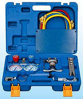 Набор для обработки труб Value VTB- 5B-1 (2трубореза+вальцовка808-I+коллектор R410A.R407C.R22.R134A+ шланги)