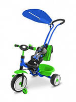Детский трехколесный Велосипед Milly Mally  BOBY DELUX BLUE-GREEN (сине-зеленый)