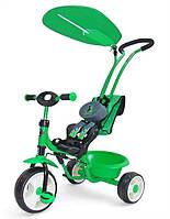 Детский трехколесный Велосипед Milly Mally  BOBY DELUX GREEN (зеленый)