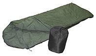 Спальный мешок туристический с капюшоном форме одеяло
