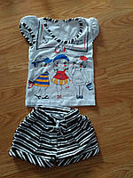 Летний костюм на девочку Морячка