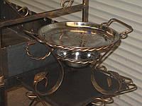 Подставка для шашлыка Садж 28 см с коваными элементами