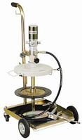 Солидолонагнетатель пневматический (насос 50:1) для бочек 16/30 кг с тележкой, крышка d.310 мм,мембрана d.310