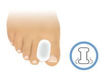 Вставка між 1 і 2 пальцями (товста) форма ковадла (розміри в асортименті) - шт.