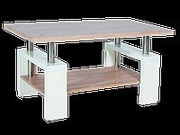 Журнальный столик Lisa bis MDF Signal дуб сонома+белый лакированный