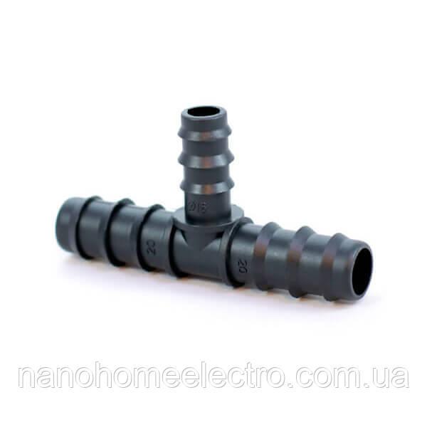 Тройник для Трубки 20*16*20 мм ТC-012016