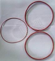 Р-кт колец РТИ на 1-ну гильзу (3шт) красн. силикон. 7405-1002008-51