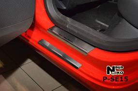 Накладки на пороги Premium Seat Leon III 2013-