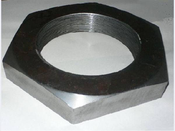 М8 Гайка шестигранная низкая низкая DIN 439 аналог  ГОСТ 5916-70,черная, оцинкованная