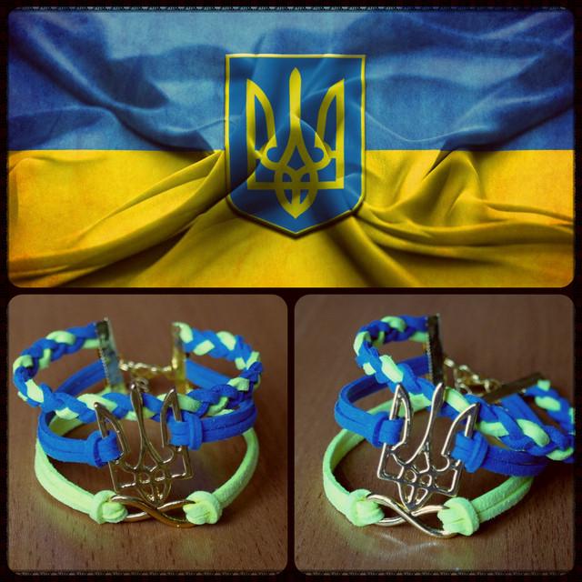 Патриотические украшения ручной работы (с украинской символикой)