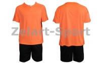 Форма футбольная без номера подростковая CO-4807-Р (PL, р-р M-XL коралловый,шорты черные)