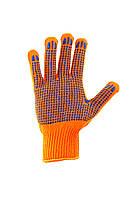 Перчатки трикотажные с ПВХ точкой для механических работ