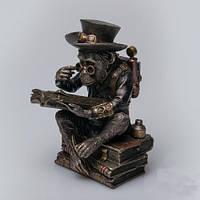 """Оригинальная статуэтка под бронзу """"Профессор-шимпанзе"""" 19 см"""