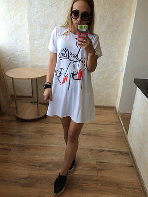 "Платье - футболка ""Лубутены - Лав стори"", фото 2"