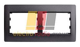 Графiтовий металiк  1144   Рамка 2 мiсця горизонтальна OSCAR LXL